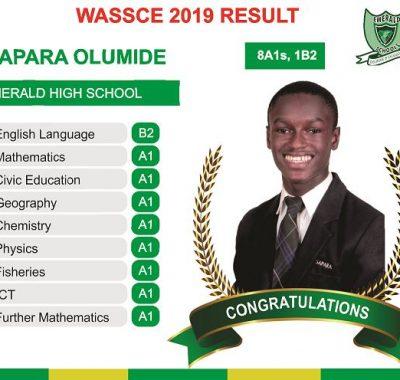 emerald best waec result